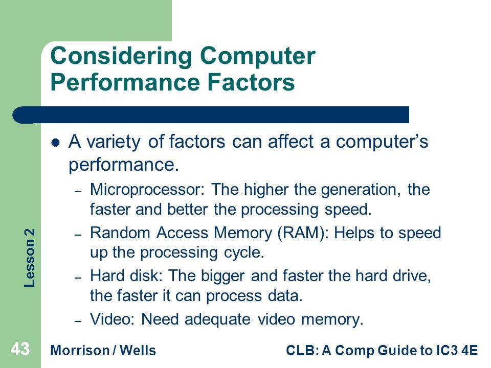 Considering Computer Performance Factors