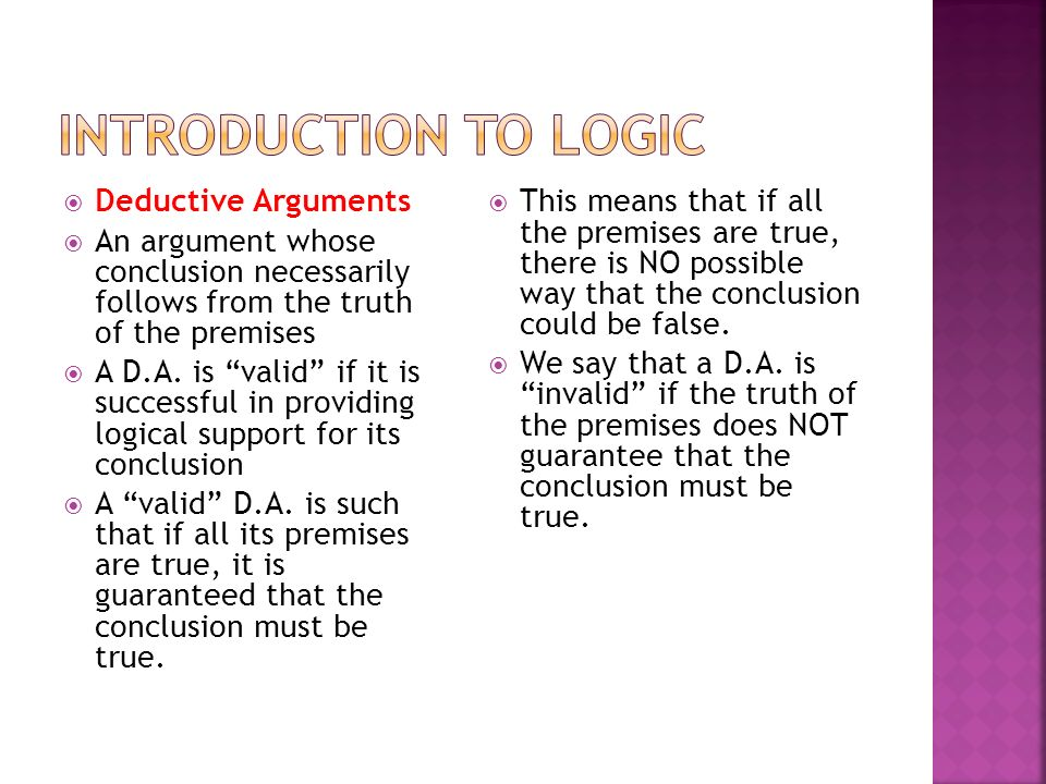 what is argument in logic pdf