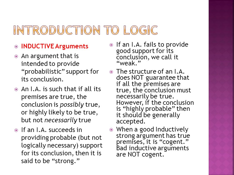 """an introduction to the logical structure of arguments The logical structure of arguments finding reason in madness formal logic vs real world logic unfortunately, this is not a """"logic"""" class of the philosophical type, where there are certainties."""