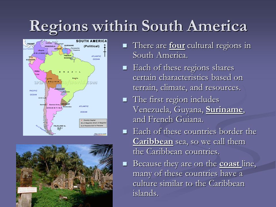 Regions within South America