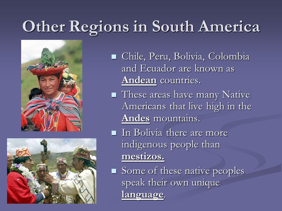 Other Regions in South America