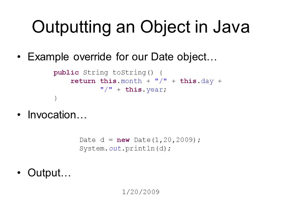 how to create date object in java