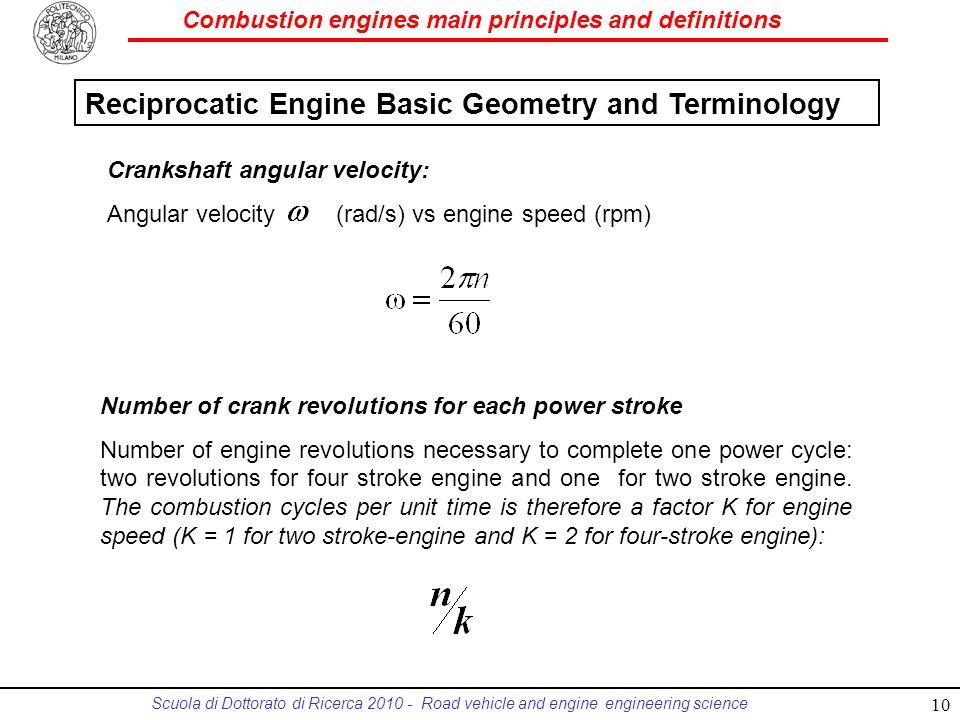 Reciprocatic Engine Basic Geometry and Terminology