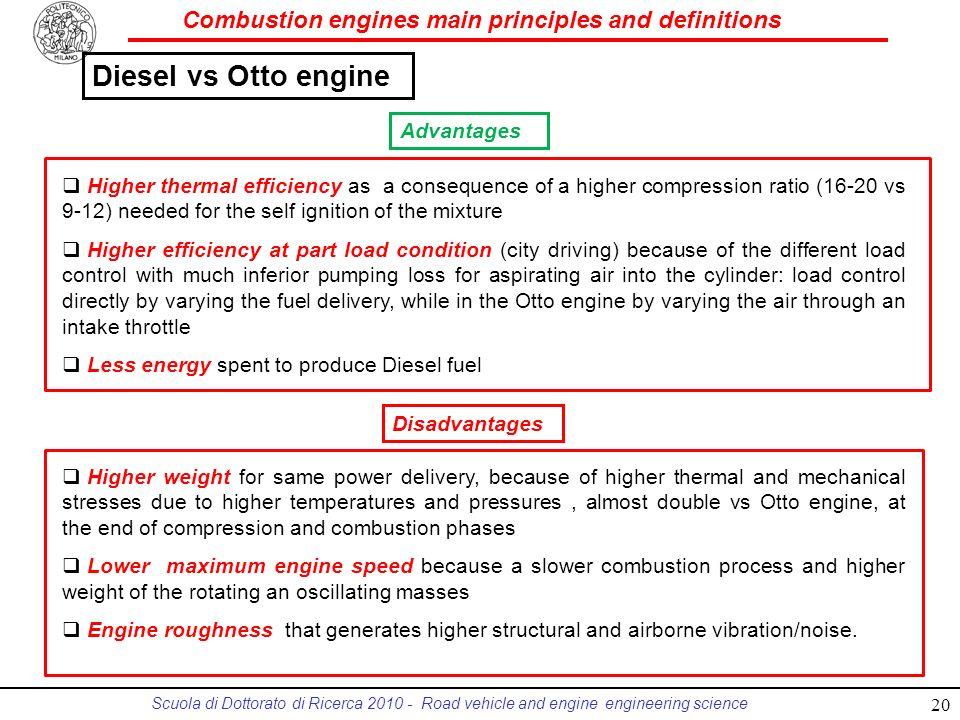Diesel vs Otto engine Advantages