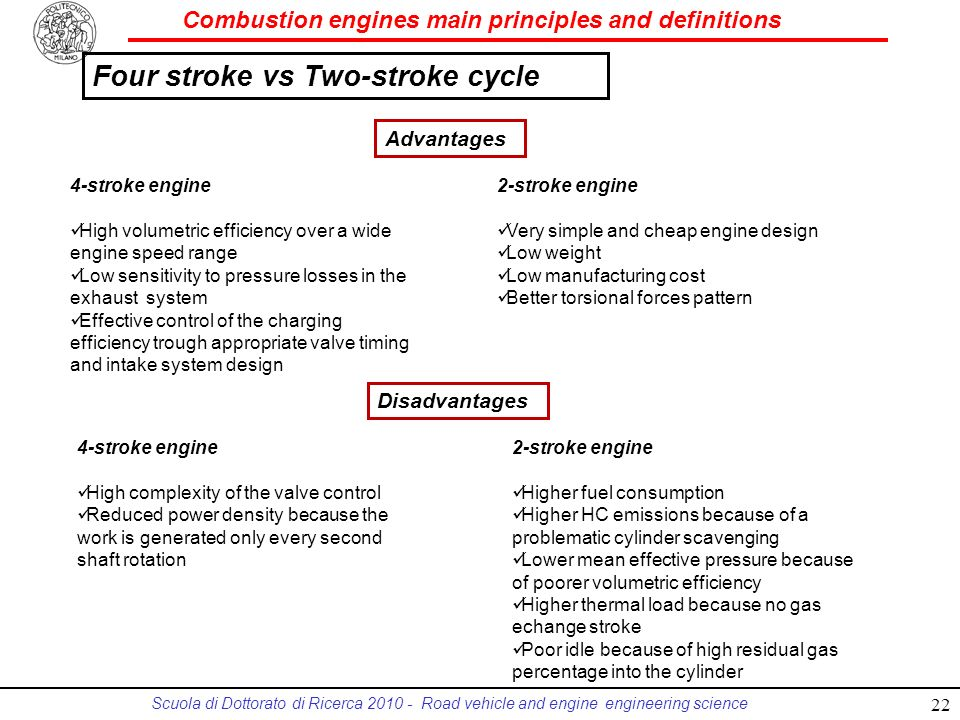 Four stroke vs Two-stroke cycle