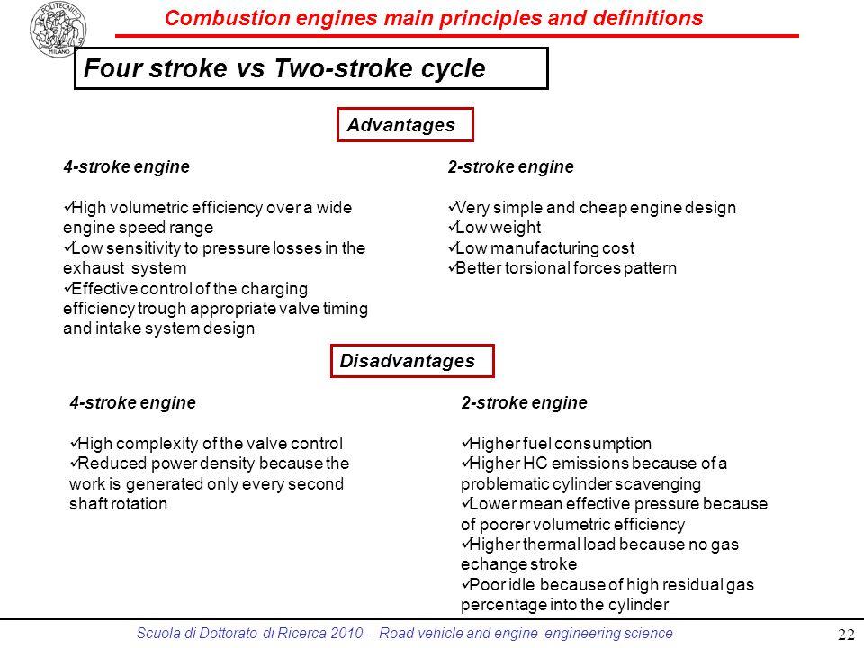 Four stroke vs Two-stroke cycle