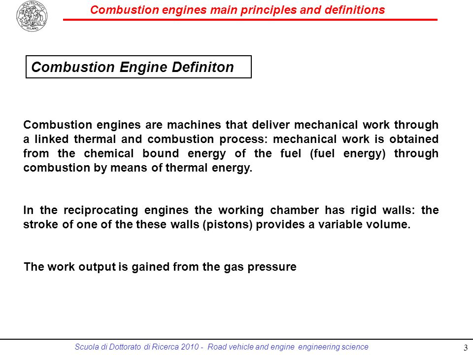 Combustion Engine Definiton