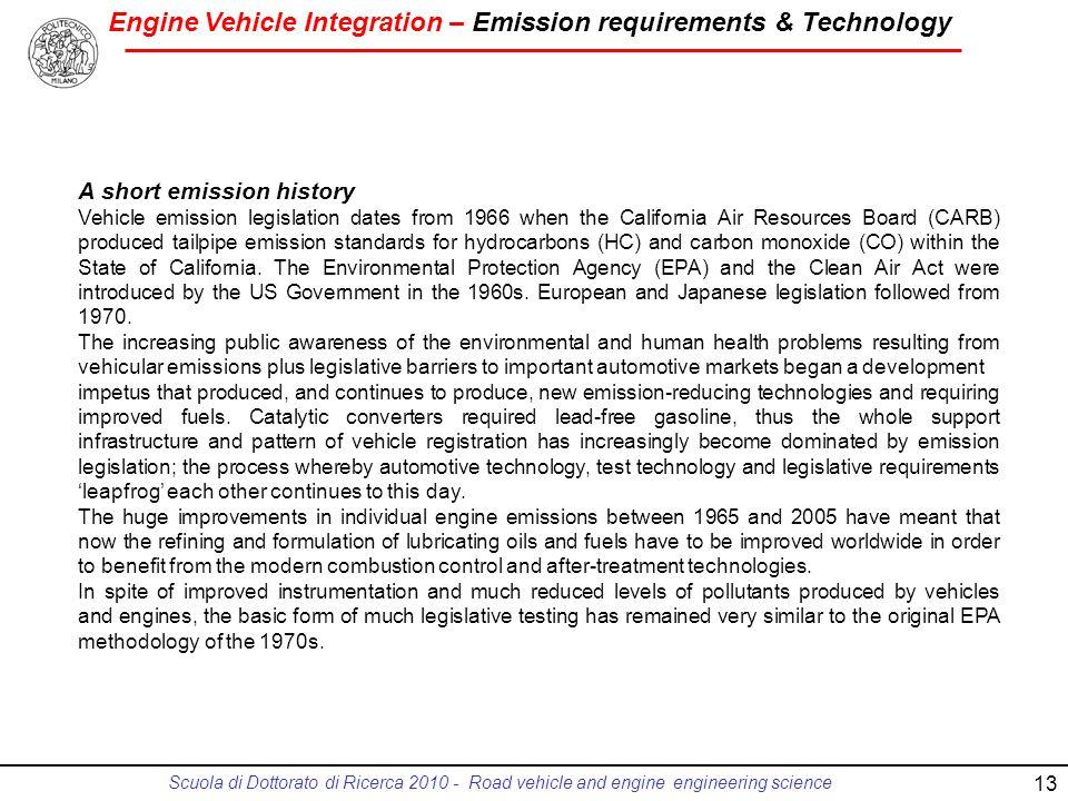 A short emission history