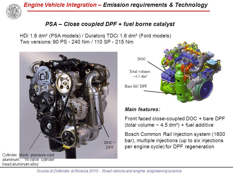 PSA – Close coupled DPF + fuel borne catalyst