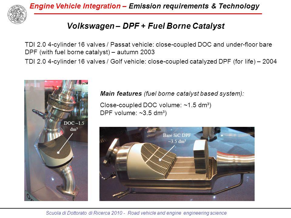 Volkswagen – DPF + Fuel Borne Catalyst