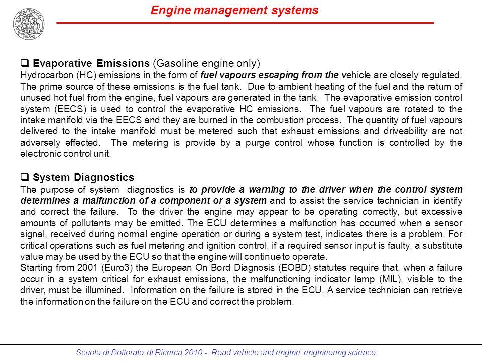 Evaporative Emissions (Gasoline engine only)