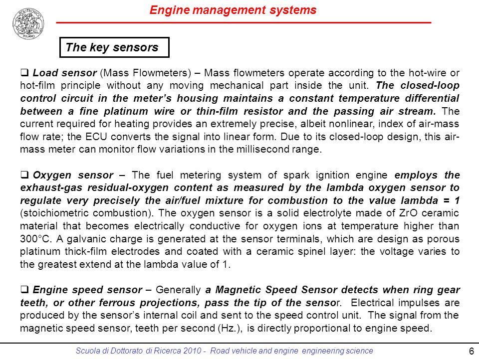 The key sensors