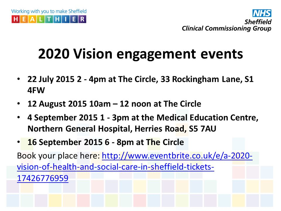 2020 Vision engagement events
