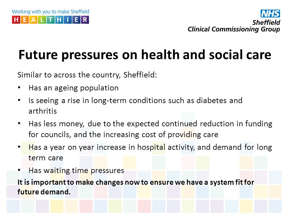 Future pressures on health and social care