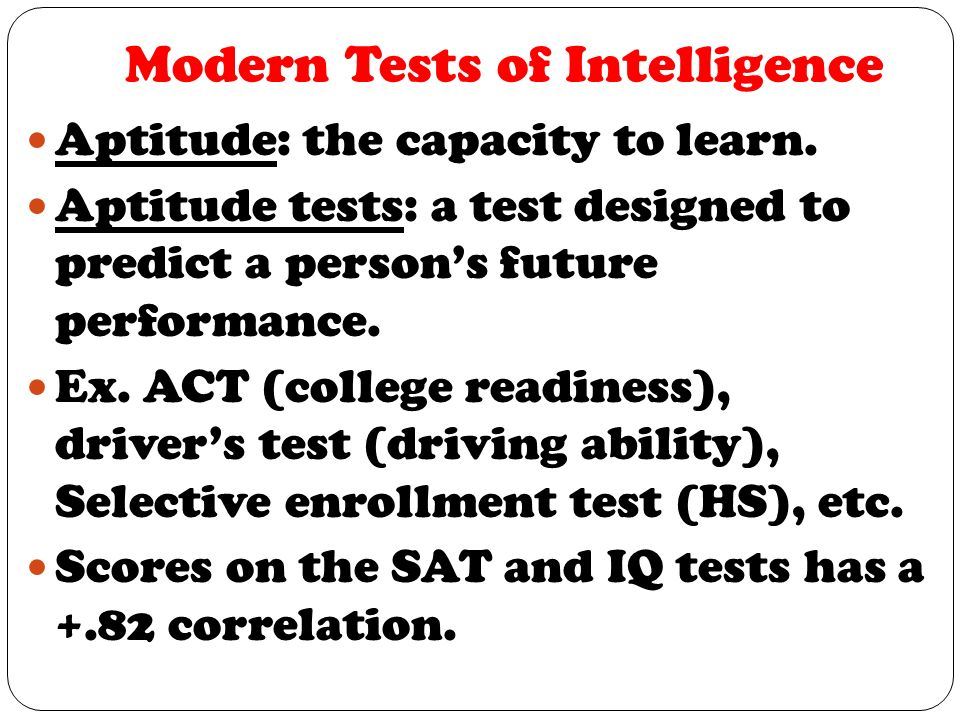 Tests designed to predict ability to learn new skills are ...