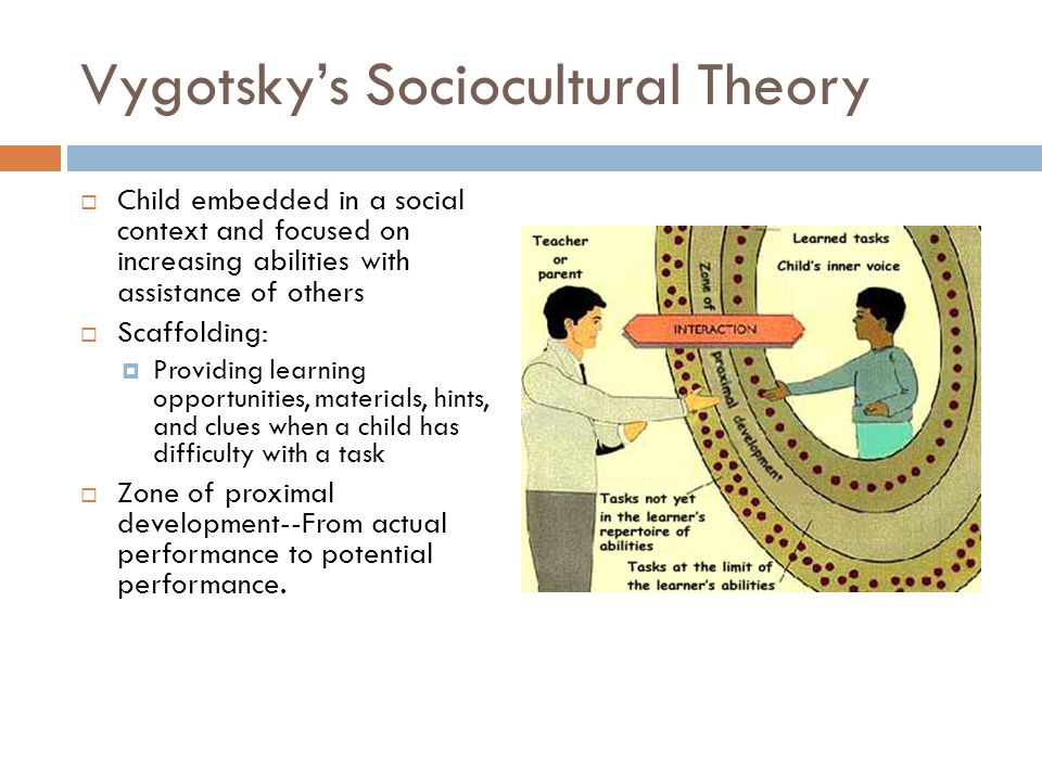 sociocultural theory in early childhood development essay Many individuals enter the field of early childhood education what is a developmental theory, what purposes do child development sociocultural theory.