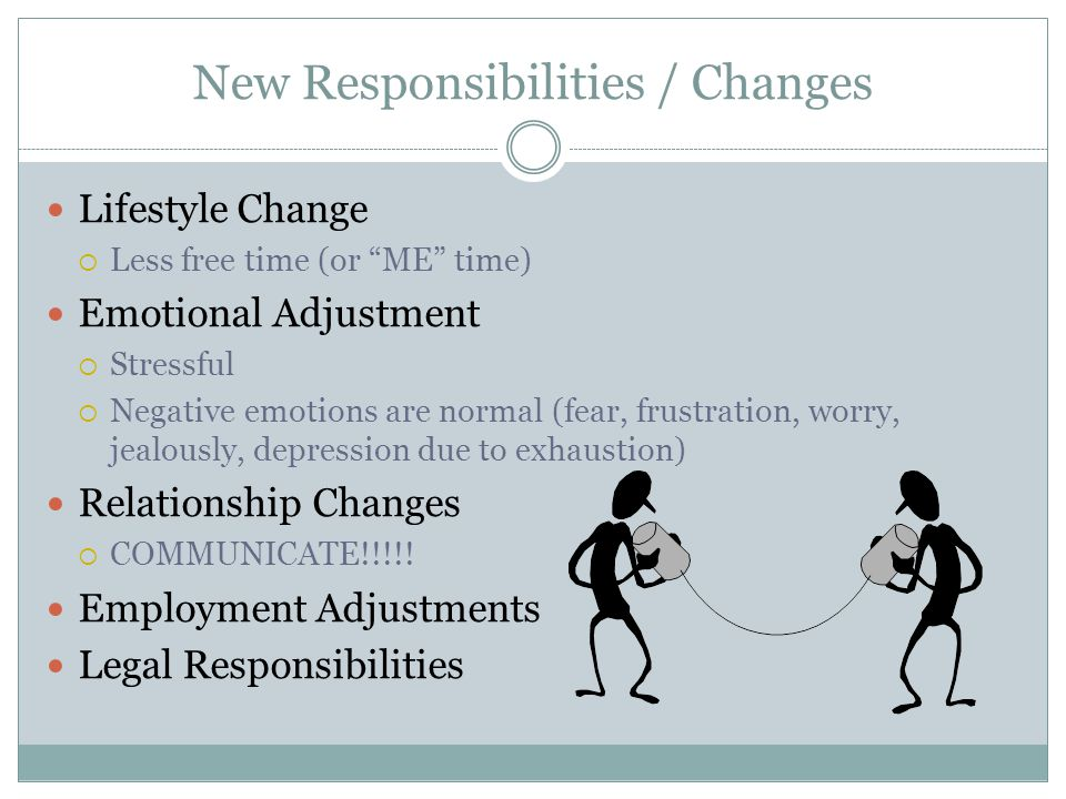 New Responsibilities / Changes