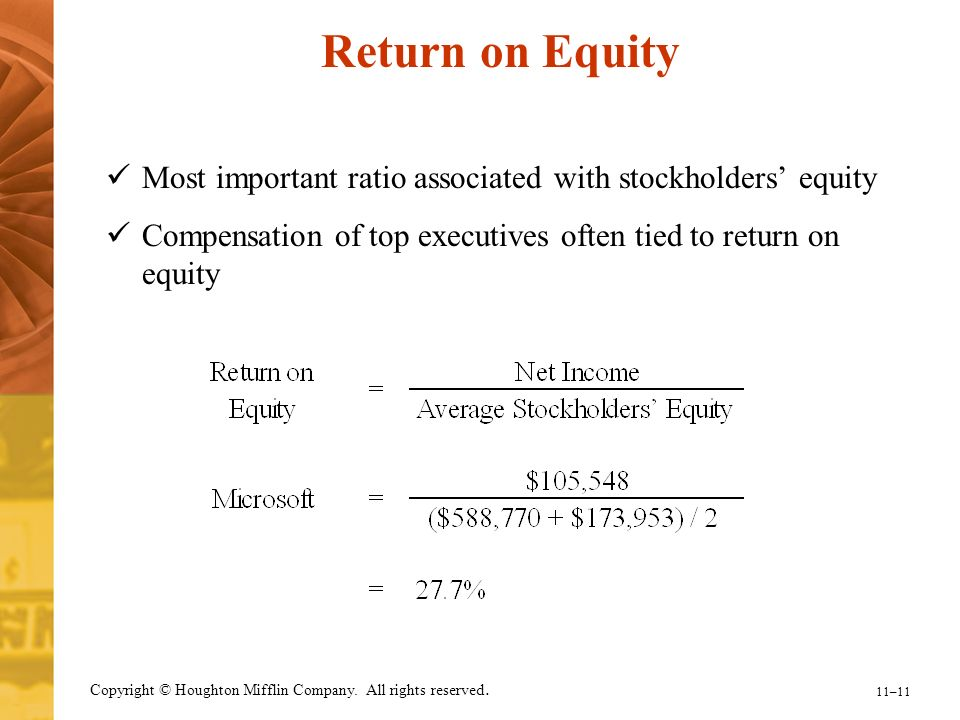 how to find return on stockholders equity