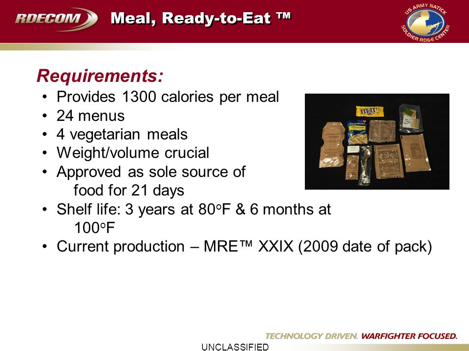stable components download a bakery operational shelf acceptable slide combat ration information purpose develop physical life tech rations for of highly chemical ppt mre transfer new the variety analysis