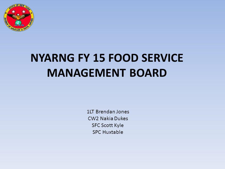 NYARNG FY 15 FOOD SERVICE MANAGEMENT BOARD