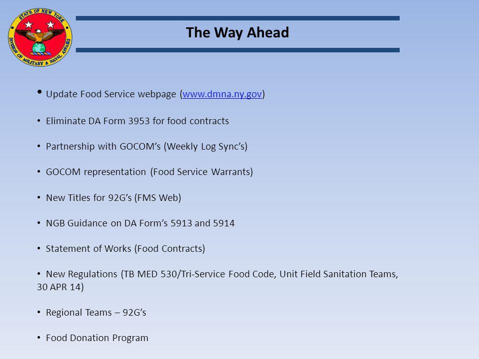 NYARNG FY 15 FOOD SERVICE MANAGEMENT BOARD - ppt download