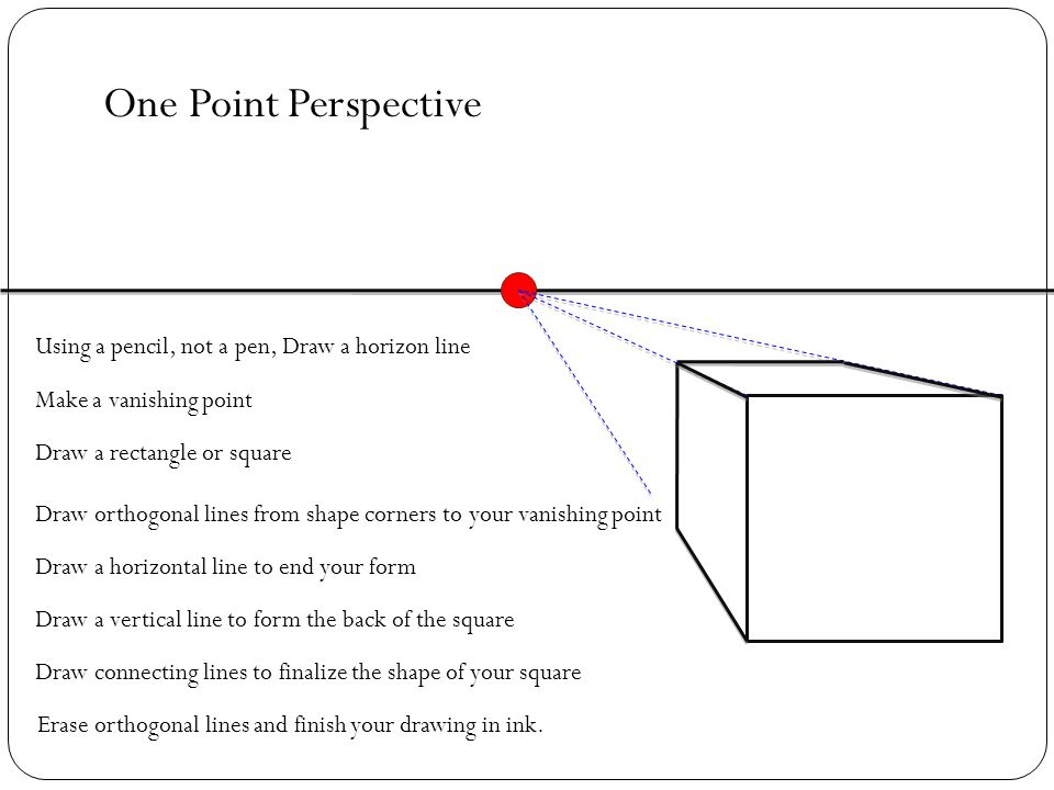 Drawing Using Horizon Lines : Multiple point perspective ppt download