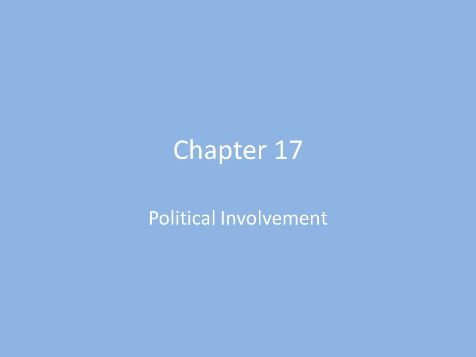 Political involvement