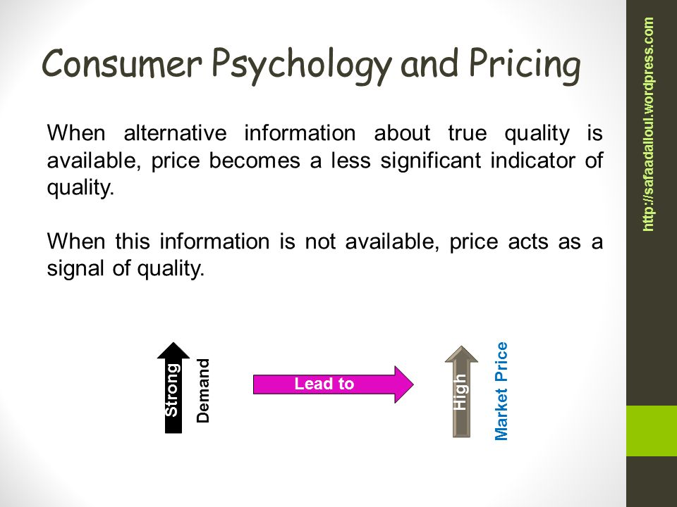 """pricing and the psychology of consumption Relating to fashion marketing, """"psychology"""" in """"economic psychology"""" includes the influences of chronic desire for conspicuous consumption (cc) and desire for rarity as relative human conditions, that is, humans vary in these desires consumers relatively very high versus very low in these desires are more."""