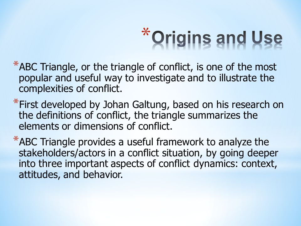 Origins and Use