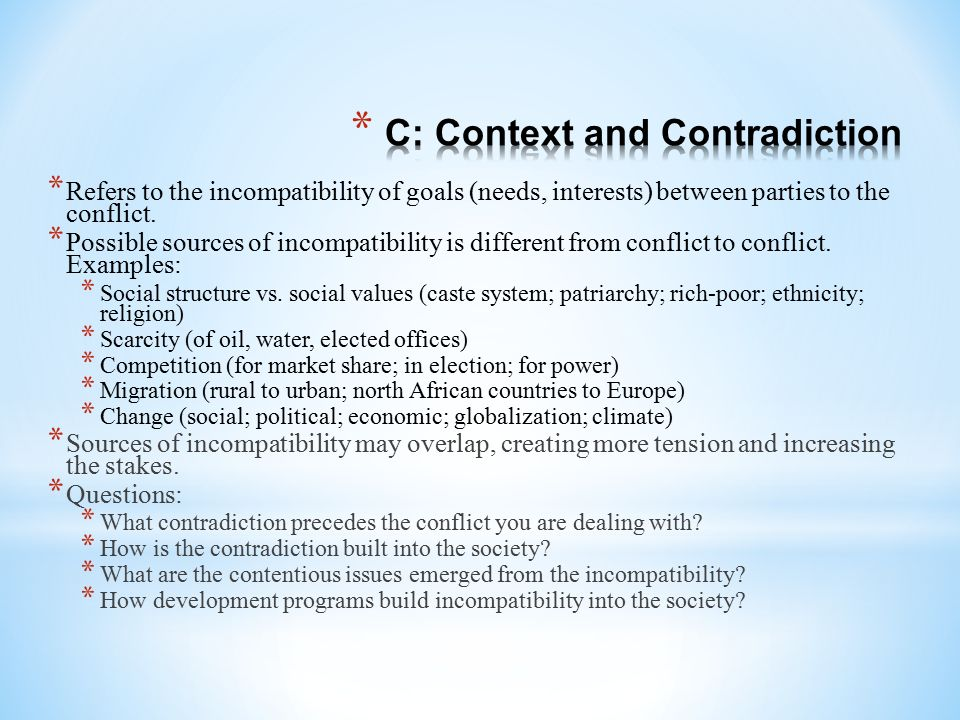C: Context and Contradiction