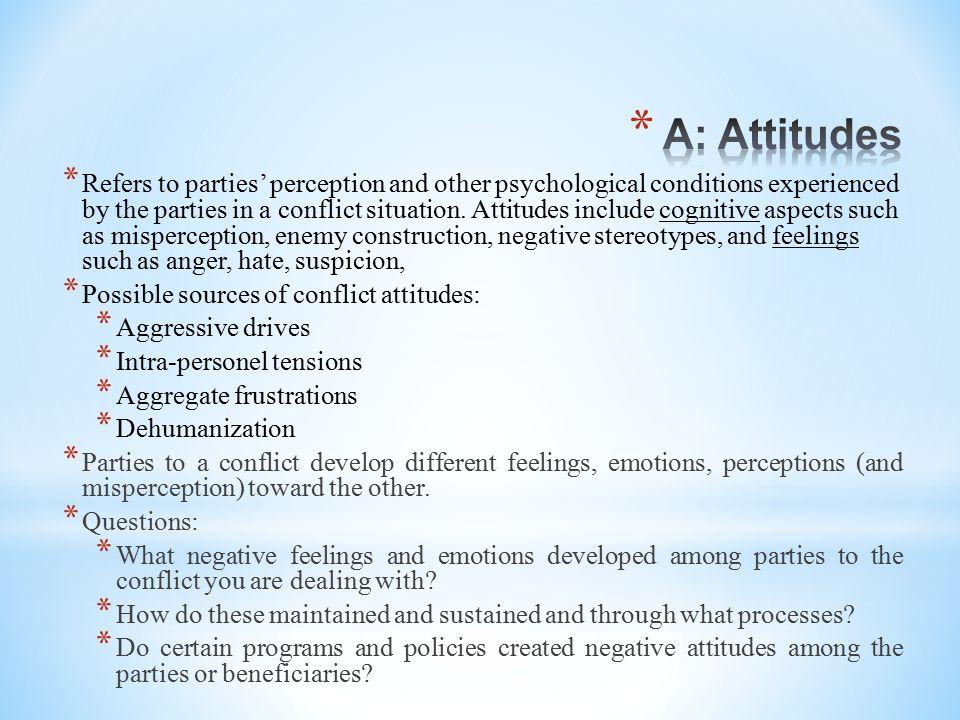A: Attitudes