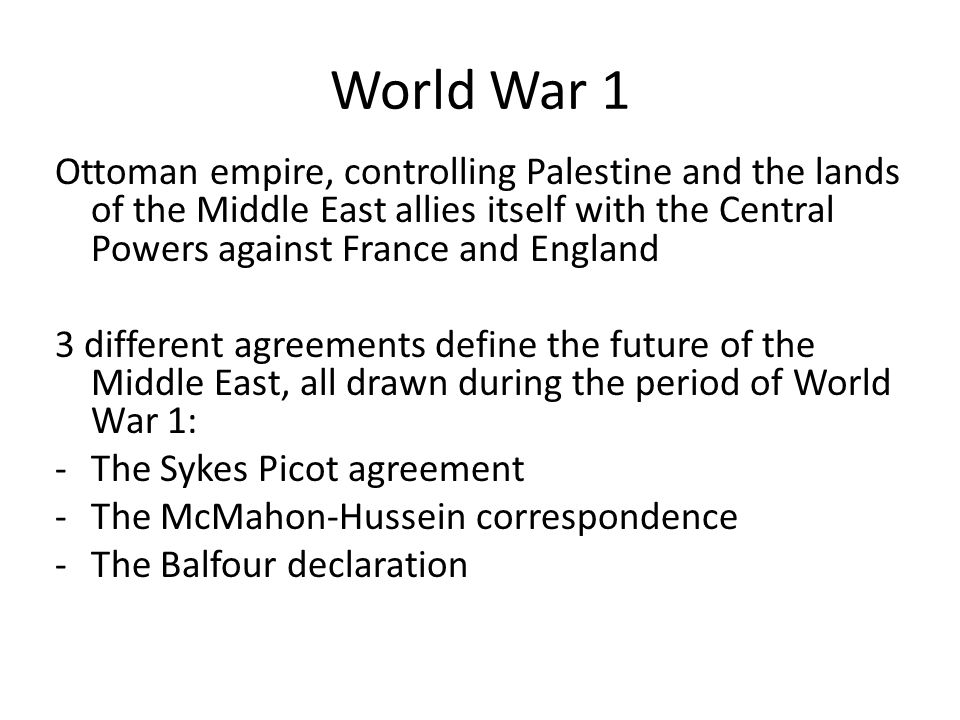 Sykes–Picot Agreement