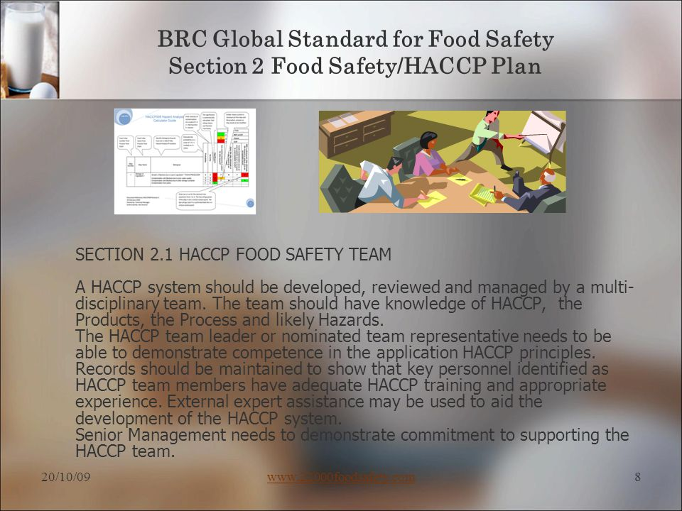 Brc Food Safety Quality Management System Training Guide