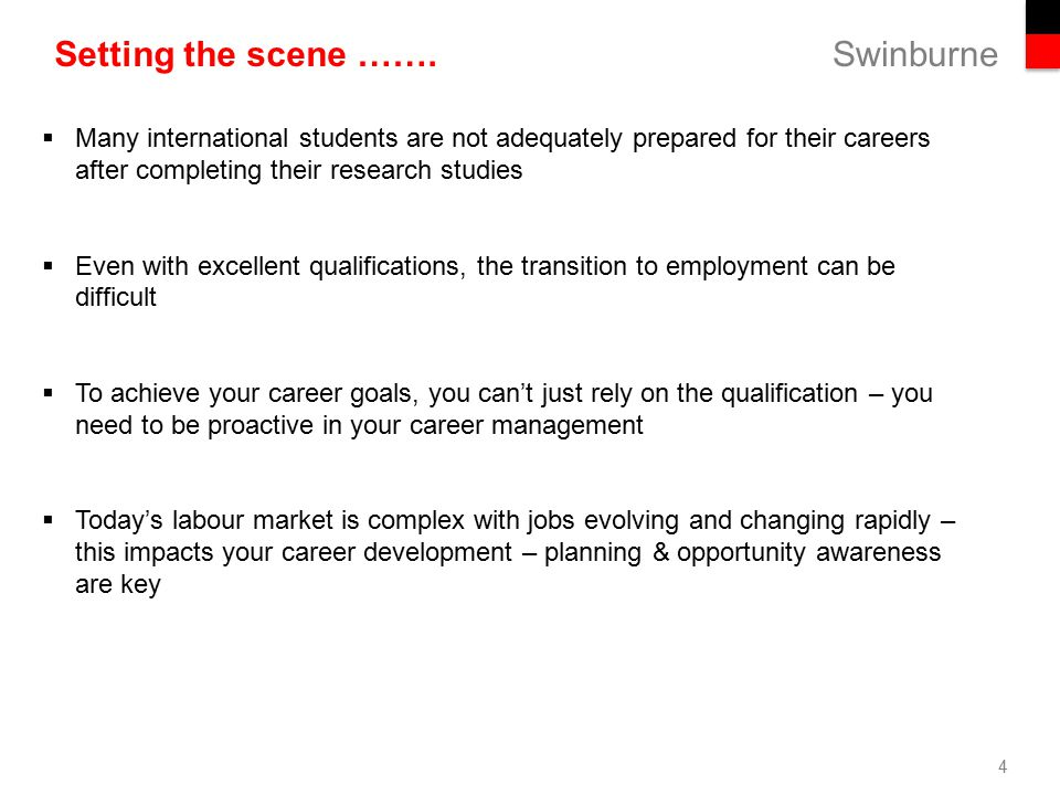 Career plan for international students