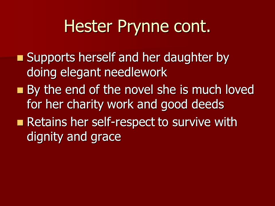 What is a good title for a character analysis essay about hester prynne