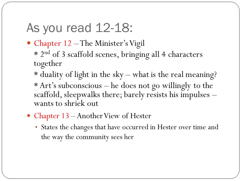 the symbolic scaffold scenes in the scarlet letter by nathaniel hawthorne The scarlet letter study guide contains a biography of nathaniel hawthorne, literature essays, a complete e-text, quiz questions, major themes, characters, and a full summary and analysis.