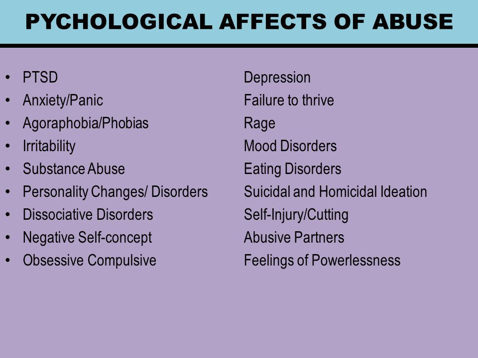 abuse affect adult pychological