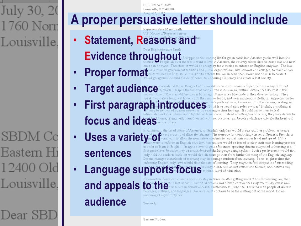 Persuasive Letter Is Written To One Person Or A Small Group Ppt - World first language list