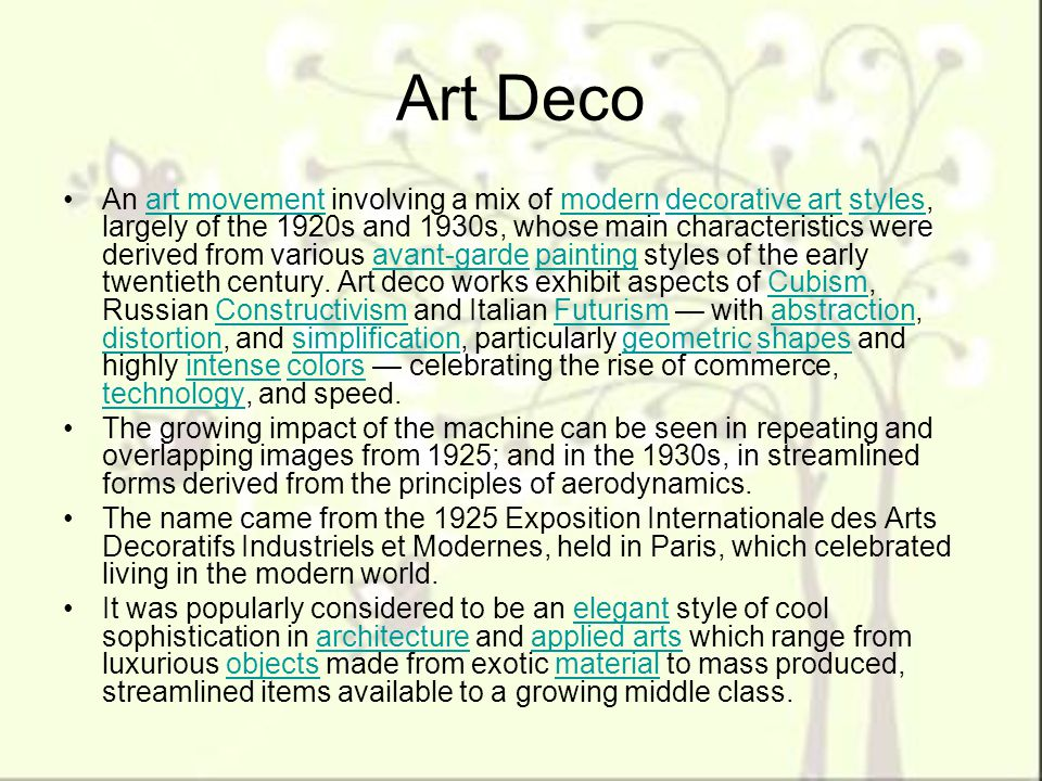 American art ppt video online download for Art deco architecture characteristics
