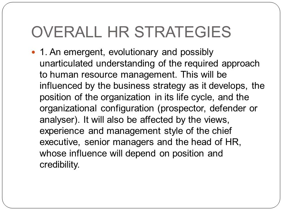 human resource management and evolutionary strategic Free essay: e-recruiting assignment 4 chastity byrd dr dana richmond, mba strayer university may 26, 2012 1 suggest how hr professionals can use online.
