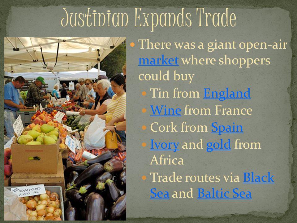 Justinian Expands Trade