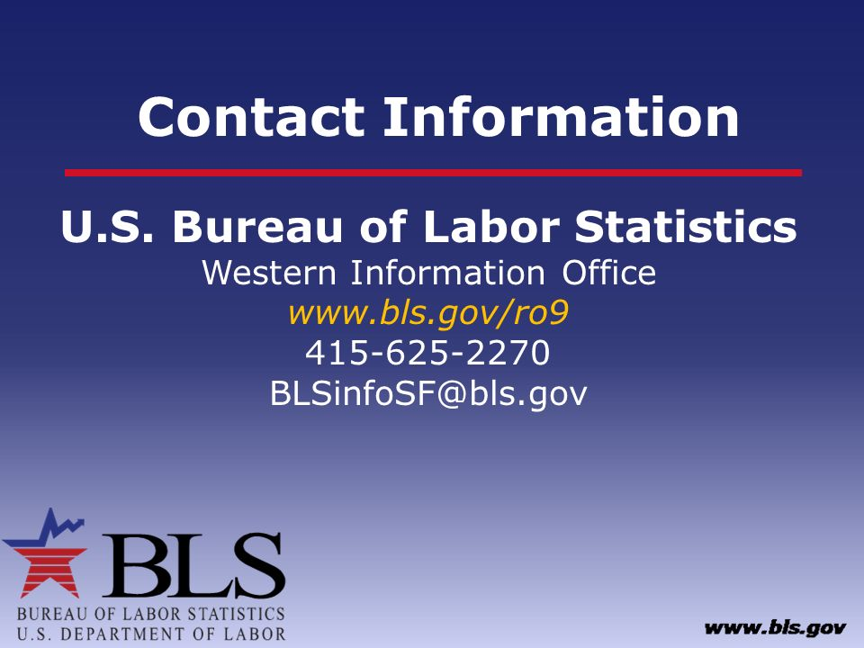 California health care employment outlook ppt download for Bureau of labor statistics