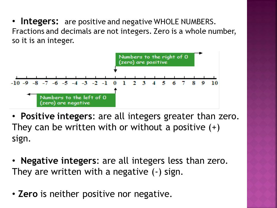 What Is a Postive Integer & What Is a Negative Integer?