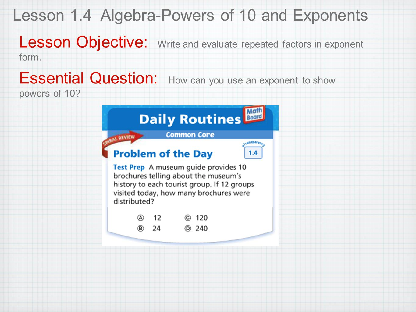 Whole numbers and decimals ppt download lesson 14 algebra powers of 10 and exponents falaconquin