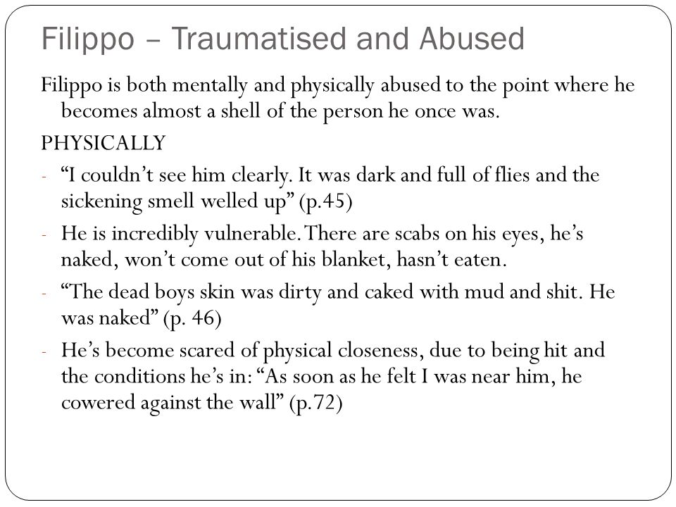 Filippo – Traumatised and Abused