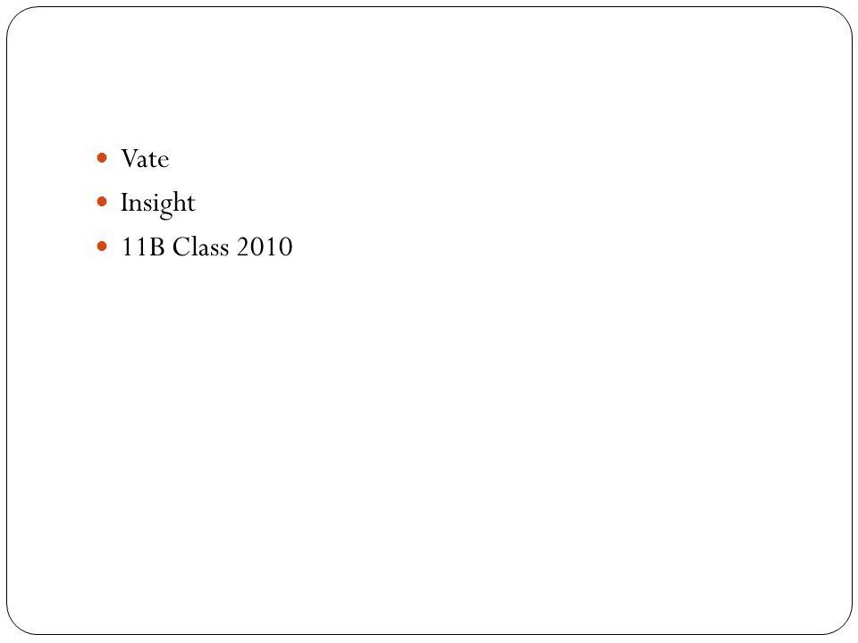 Vate Insight 11B Class 2010