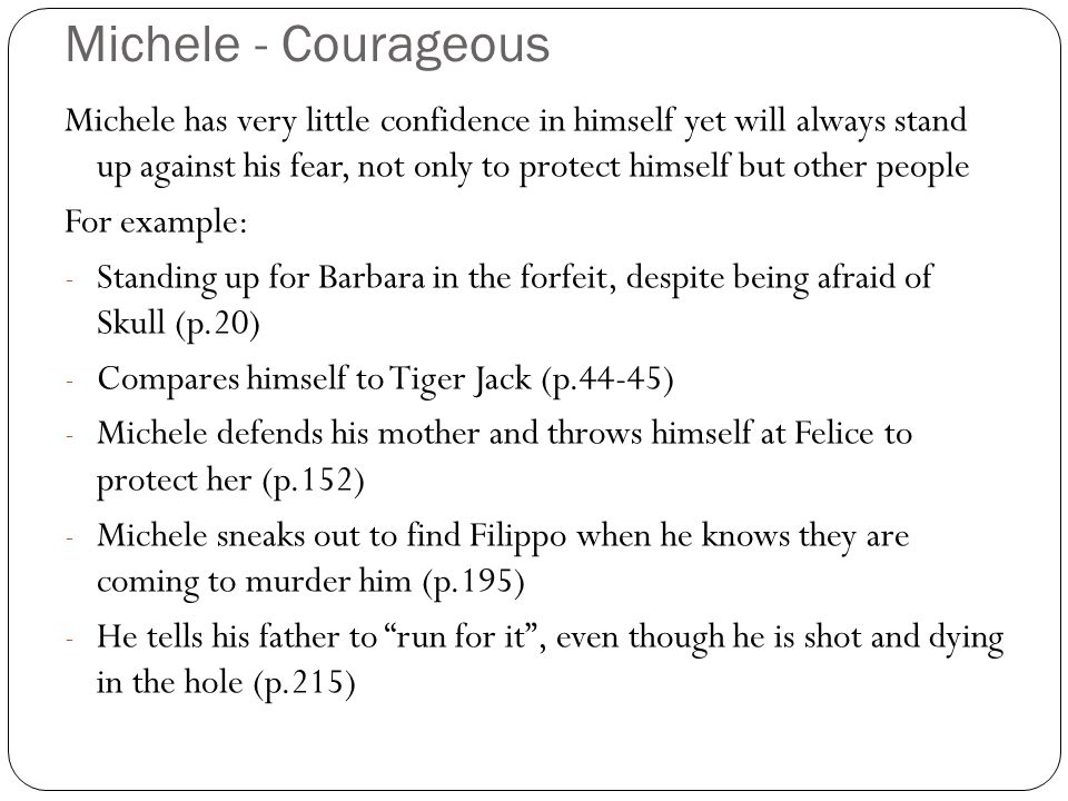 Michele - Courageous