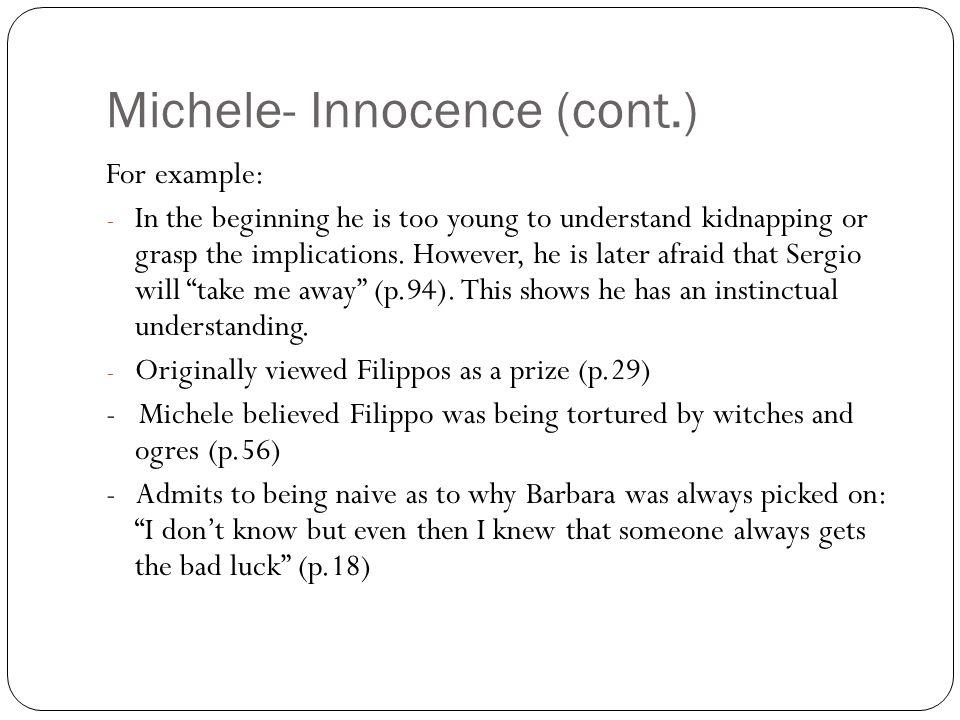 Michele- Innocence (cont.)
