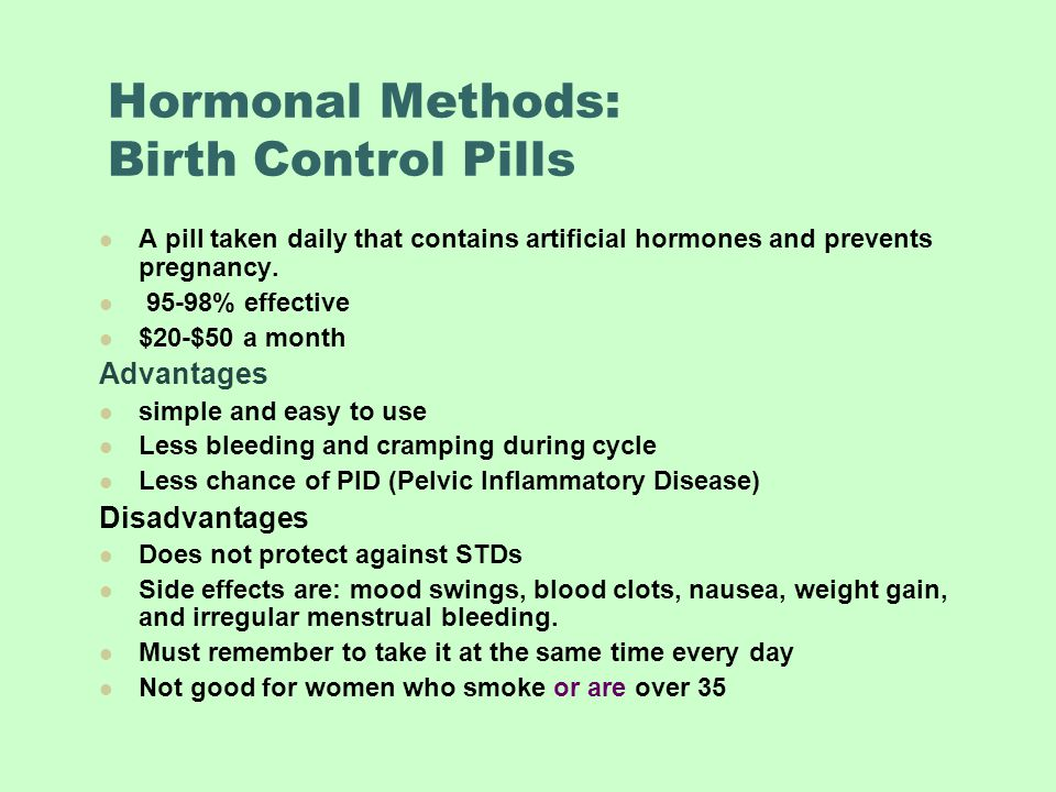 Birth Control Side Effects Mood Swings Women Take Outrage