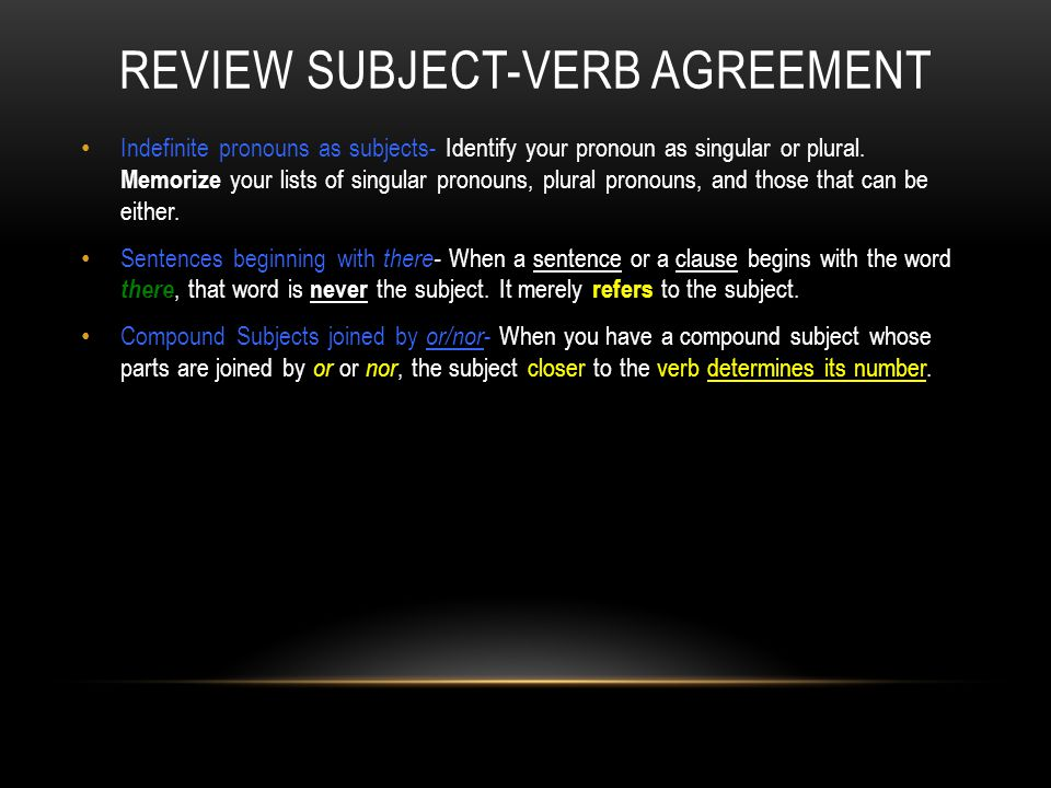 Subject Verb Agreement Ppt Video Online